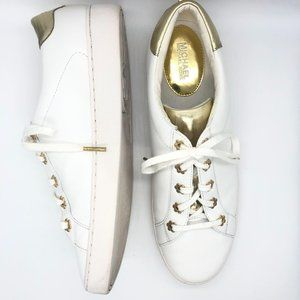 Michael Kors Irving Leather Sneakers White Sz 11
